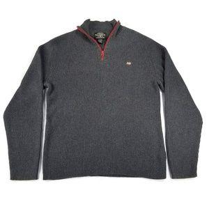 Ralph Lauren Polo Jeans Flag Quarter Zip Sweater
